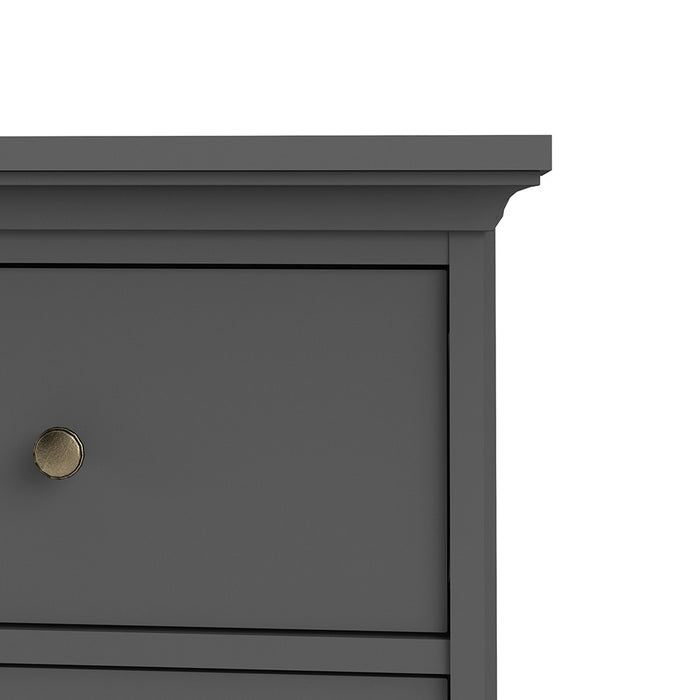 Marseille Matt Grey 4 Drawer Chest of Drawer - FurniComp