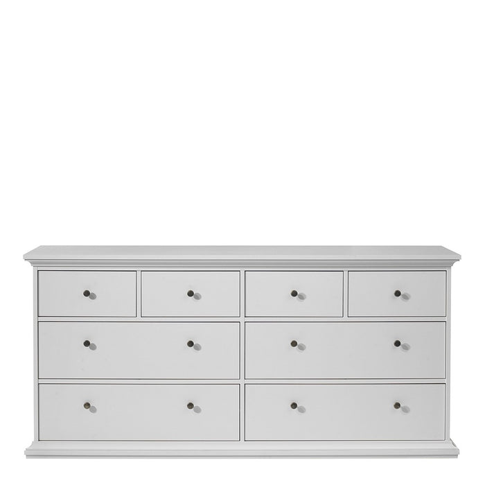 Marseille White 8 Drawer Chest of Drawer - FurniComp