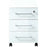Marta 3 Drawer White Glass Front Drawer Pedestal - FurniComp