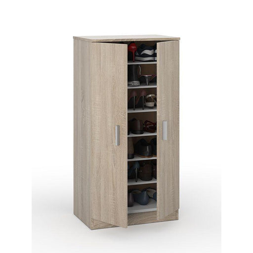 Milano 2 Door Oak Shoe Storage Cabinet - FurniComp