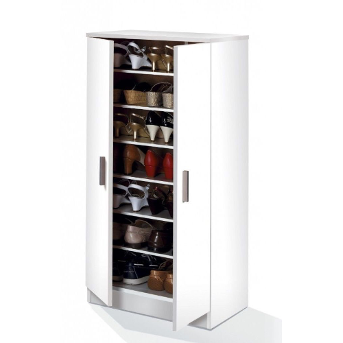 Milano 2 Door Alpine White Shoe Storage Cupboard
