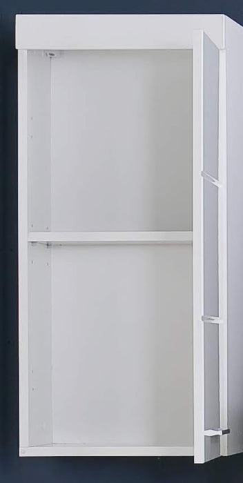 Modena 1 Door Wall Mounted White Gloss Bathroom Cabinet - FurniComp