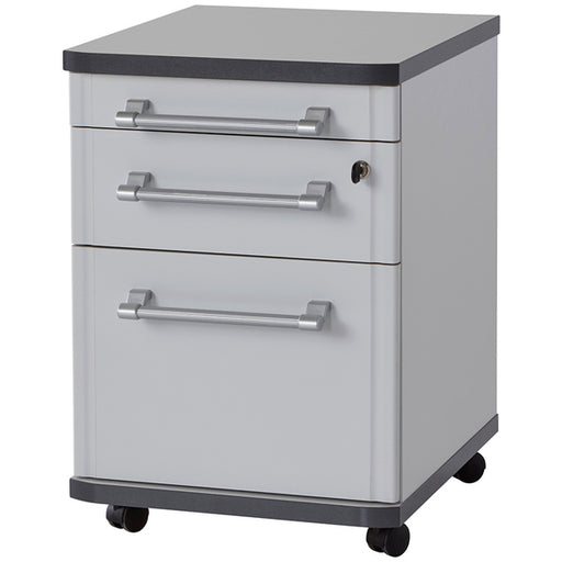 Munster 3 Drawer Light Grey Drawer Pedestal - FurniComp