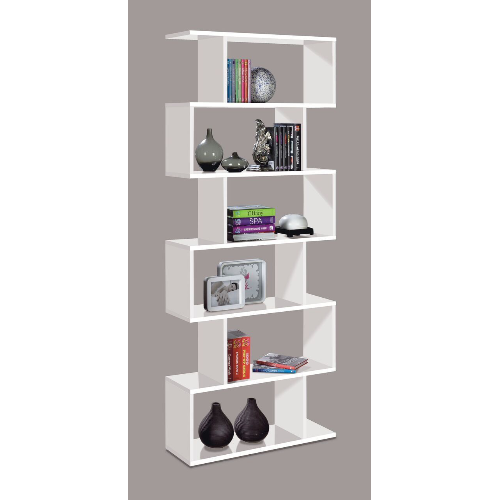 Newark Open Back Tall White Gloss Bookcase