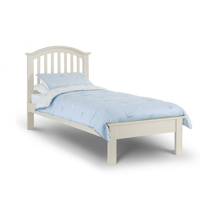 Palermo Stone White Lacquered Wooden Bed - FurniComp