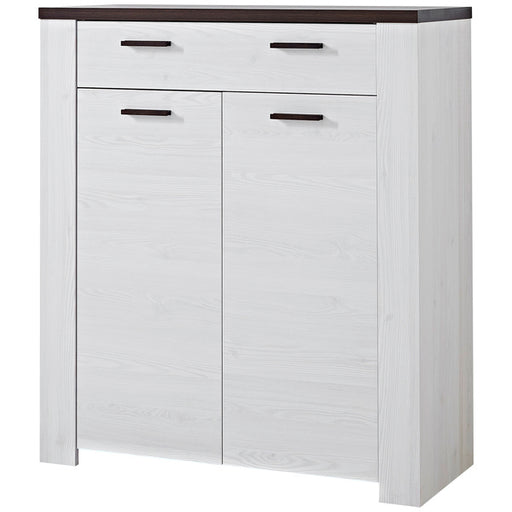 Paulo 1 Drawer 2 Door Larch and Oak Shoe Cabinet - FurniComp