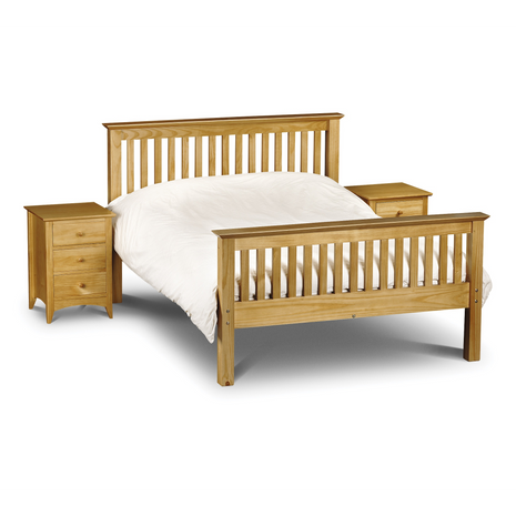 Peru Solid Pine King Size Bed High Foot End