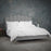 Rose Silver Velvet Bed - FurniComp