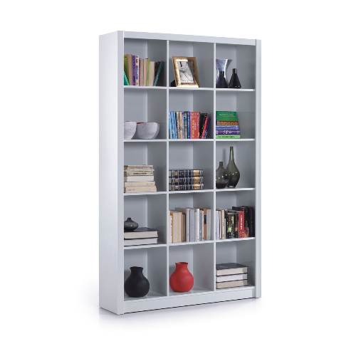 Ruby Triple White Gloss Bookcase Bookshelf Room Organiser