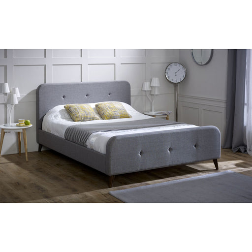 Sage Grey Fabric Bed Frame - FurniComp