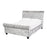 Savannah Silver Crushed Velvet Bed - FurniComp