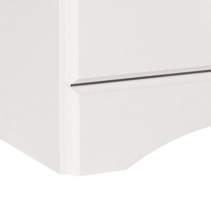 Scandi 3 Drawer White Bedside - FurniComp