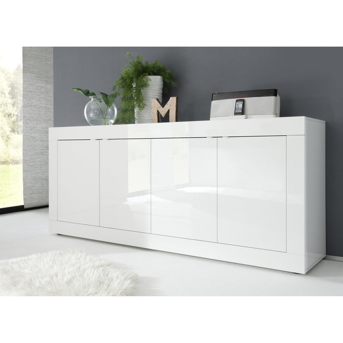 Selene 4 Door White Gloss Sideboard - FurniComp