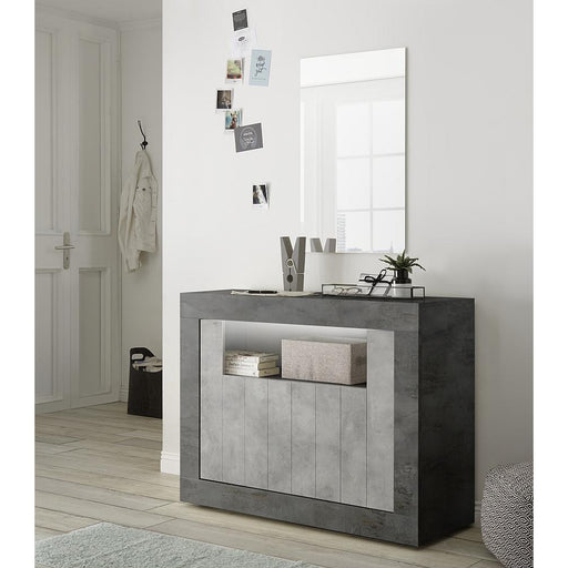 Siena 2 Door Anthracite and Concrete Grey Sideboard - FurniComp