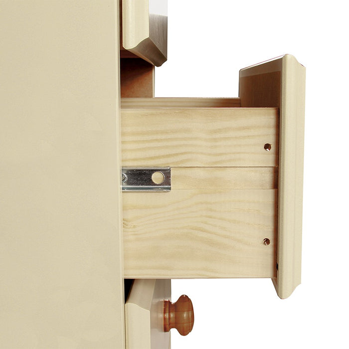 Skagen 2+3+4 Cream and Pine Chest of Drawer - FurniComp
