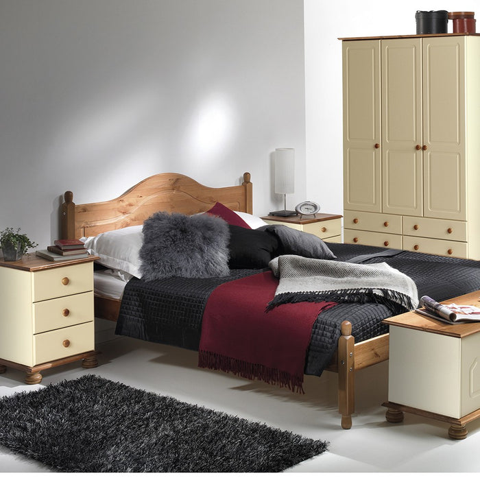 Skagen 2+4 Cream and Pine Chest of Drawer - FurniComp