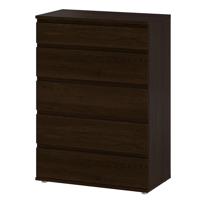 Sorrento 5 Drawers Dark Walnut Chest of Drawer - FurniComp