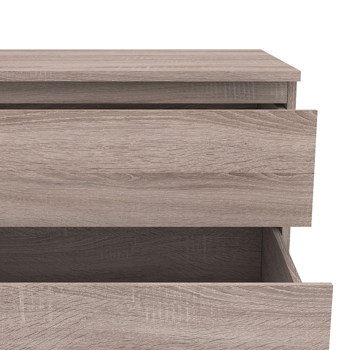 Sorrento 5 Drawers Truffle Oak Chest of Drawer - FurniComp
