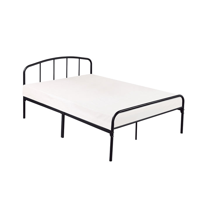 Spencer Black Metal Frame Bed - FurniComp