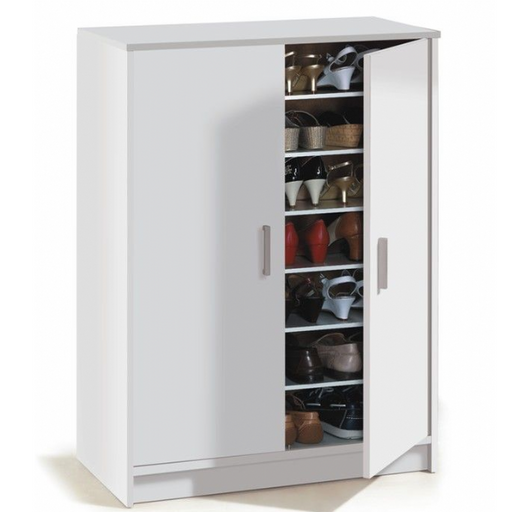 Sydney Alpine White Large 30 Pair Shoe Storage Cupboard - FurniComp