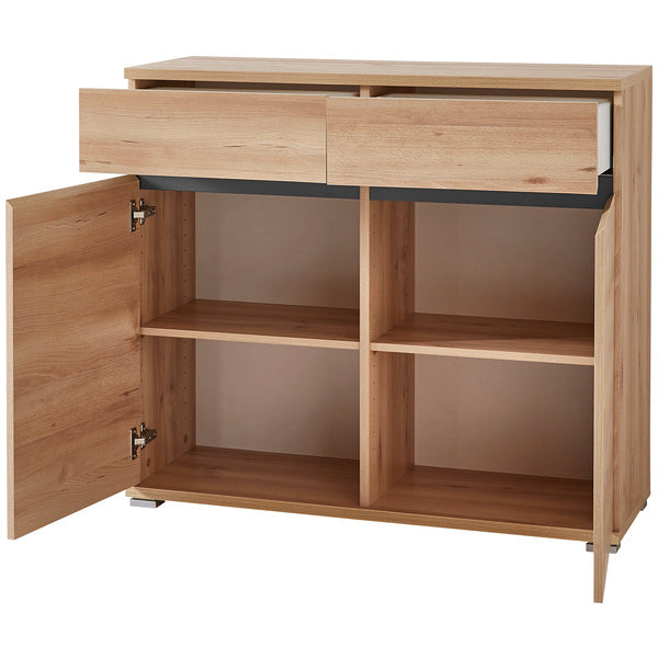 Toronto 2 Door 2 Drawer Beech Sideboard - FurniComp