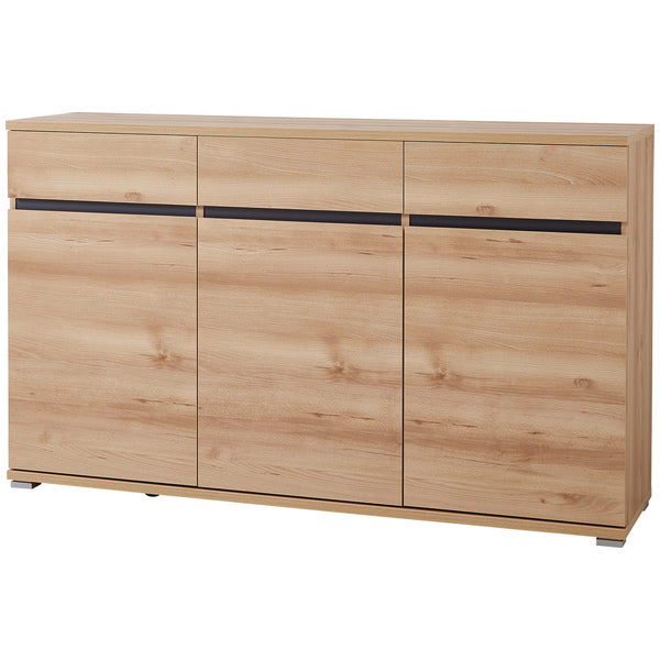 Toronto 3 Door 3 Drawer Beech Sideboard - FurniComp
