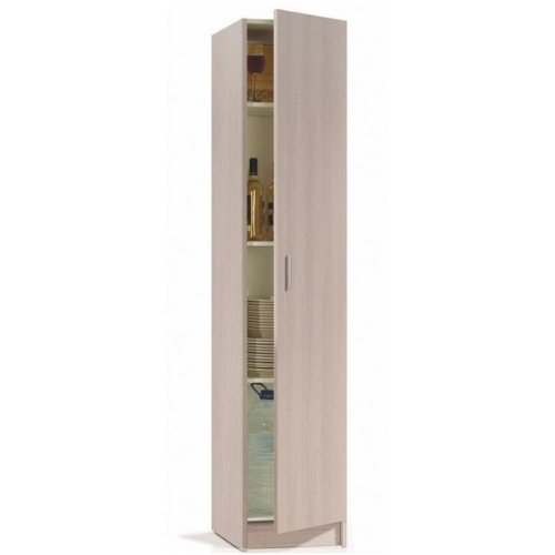 Universal Multi-Use Oak Tall 1 Door Storage Utility Cupboard Cabinet - FurniComp