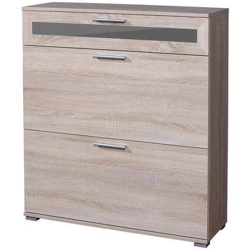 Vienna 1 Drawer 2 Door Sonoma Oak Shoe Cabinet - FurniComp