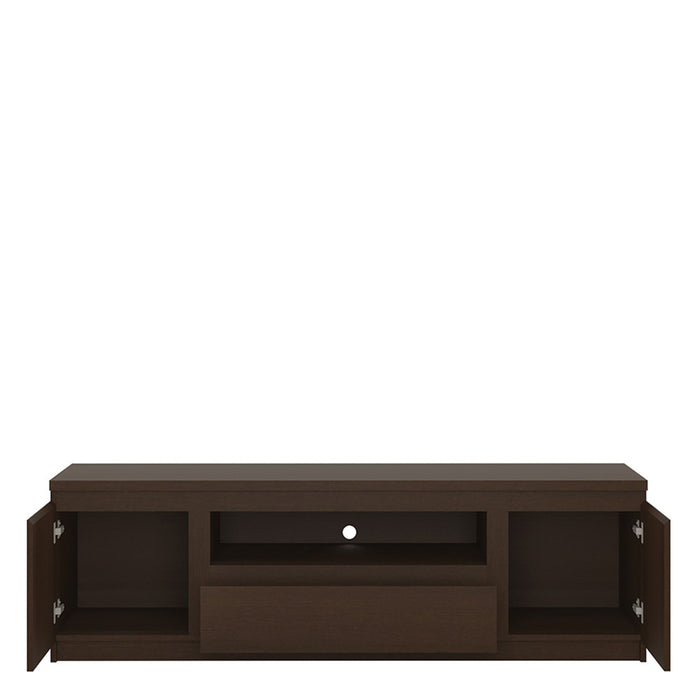 Warsaw Dark Mahogany 2 Door 1 Drawer TV Cabinet - FurniComp