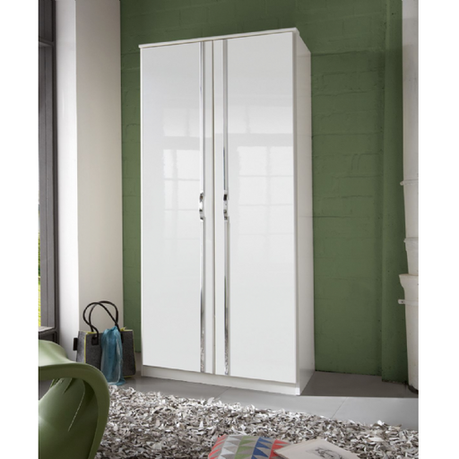 Arctic 2 Door German White Gloss Bedroom Wardrobe