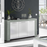Boston Large White And Grey Sideboard - FurniComp
