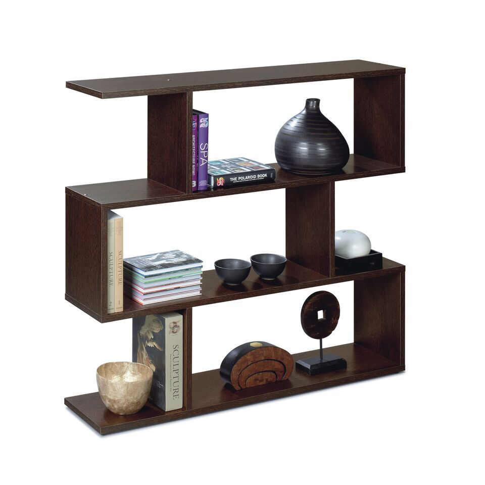 Newark Open Back Short Wenge Dark Espresso Bookcase Divider Organiser