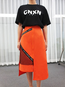 Orange Sporty Logo Skirt WATERPROOF/dustproof