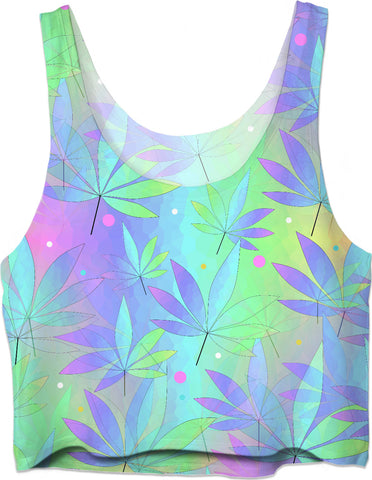 Weed Leaf Crop Top