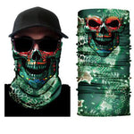 Green Dragon Skull Face Mask