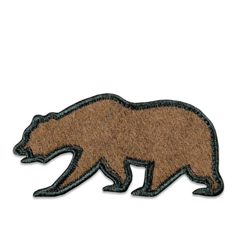 GRC Brown Felt Removable Bear Patch