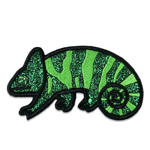 GRC Green Chameleon Removable Bear Patch