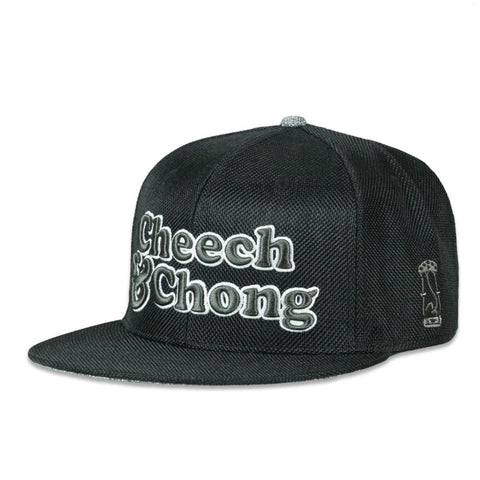 Grassroots Cheech and Chong Black Hemp Fitted