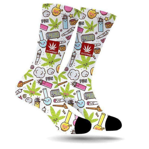 StonerDays Fun Party Weed Socks
