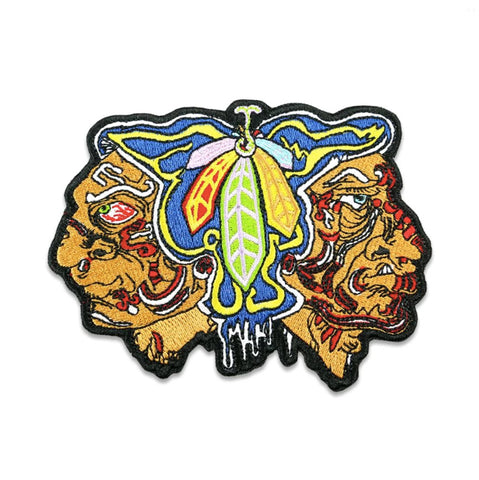 GRC Melty Bros Hawks Feathers Iron-On Patch