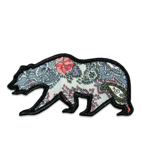 GRC Grey Paisley Removable Bear Patch