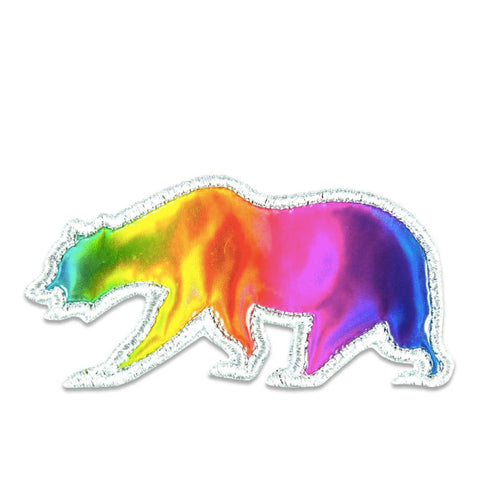 GRC Rainbow Holographic Removable Bear Patch