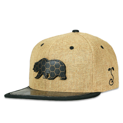 Grassroots Bearslick Removable Bear Tan Snapback