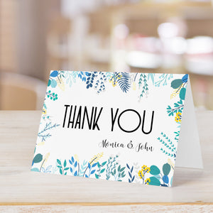 Flowery Branches Personalized Thank You Card