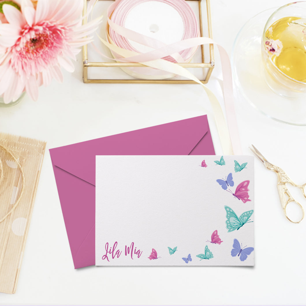 Butterfly Personalized Note Card