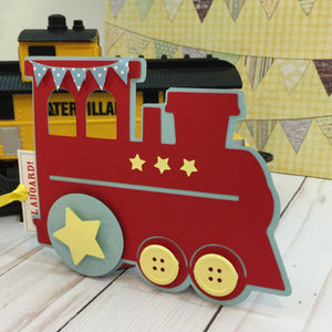 Choo Choo Train & Pull Ticket Birthday Invitation | Choo Choo Handmade Train Birthday Invite | Boys Birthday The Train Ticket Invite