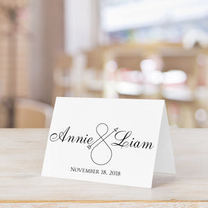 Personalized Infinity Thank You Card  for Wedding