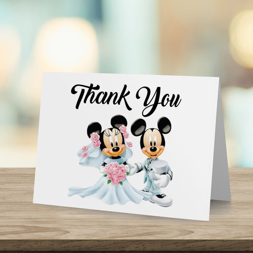 Mickey & Minnie Wedding Thank You Card