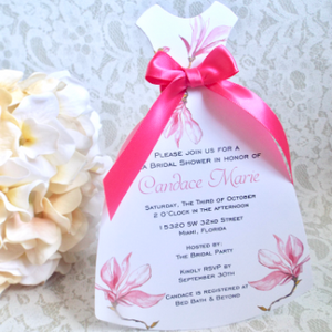 Bridal Shower Slim Dress Invitation