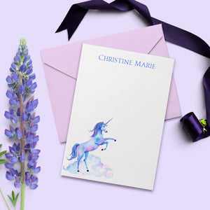 Unicorn Personalized Personal Note Card